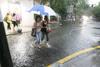 Una copiosa tormenta inunda Cáceres
