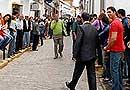 Visita de Zapatero a Alange
