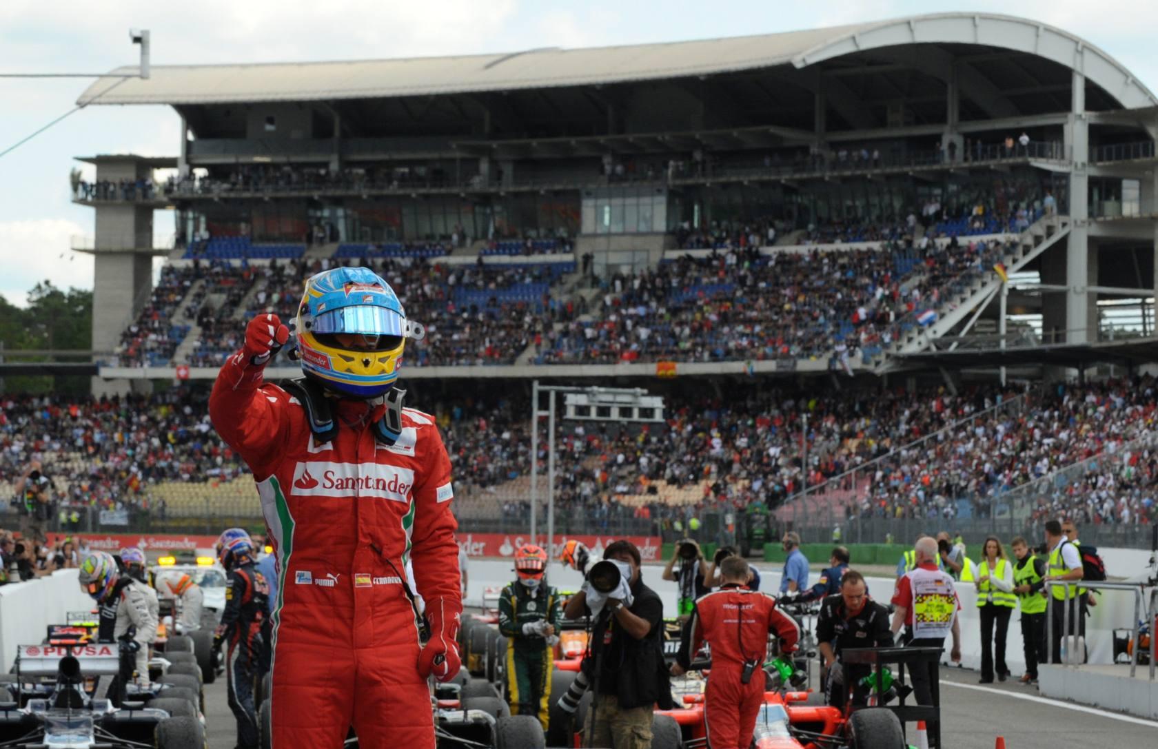 Alonso gana el Gran Premio de Alemania de Fórmula 1 en Hockenheim