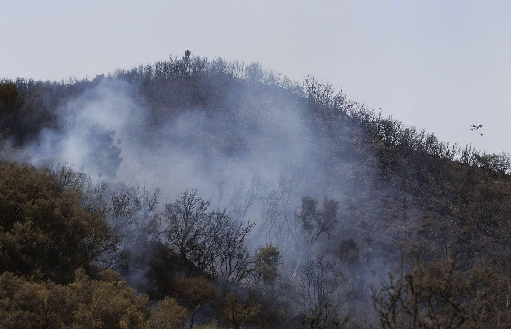 El fuego arrasa la Gomera