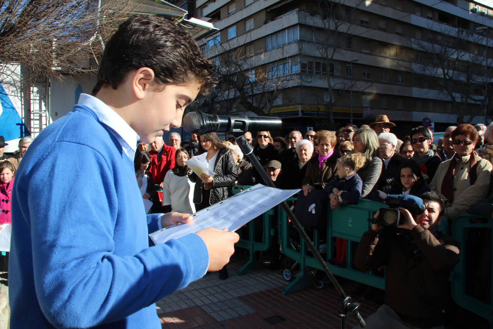 Homenaje al poeta Gabriel y Galán en Cáceres