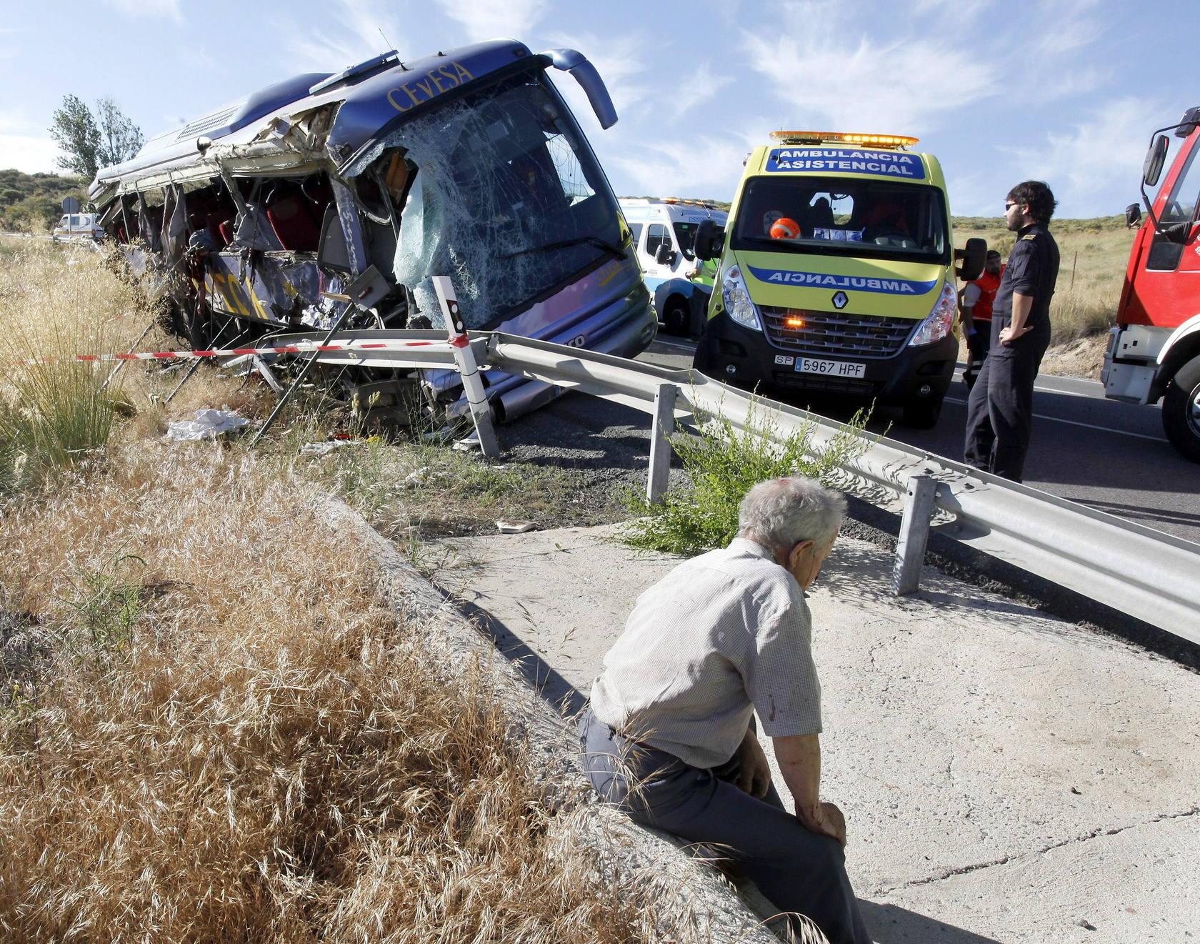 Accidente de autobús en Ávila