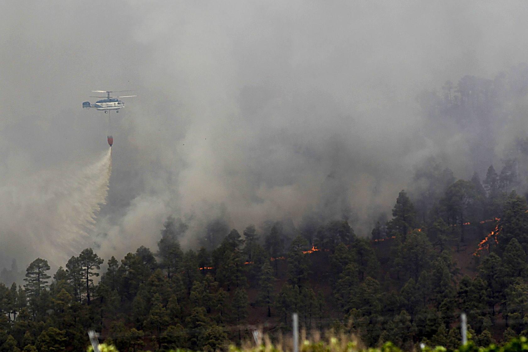Imágenes de los incendios de Tenerife y Las Palmas