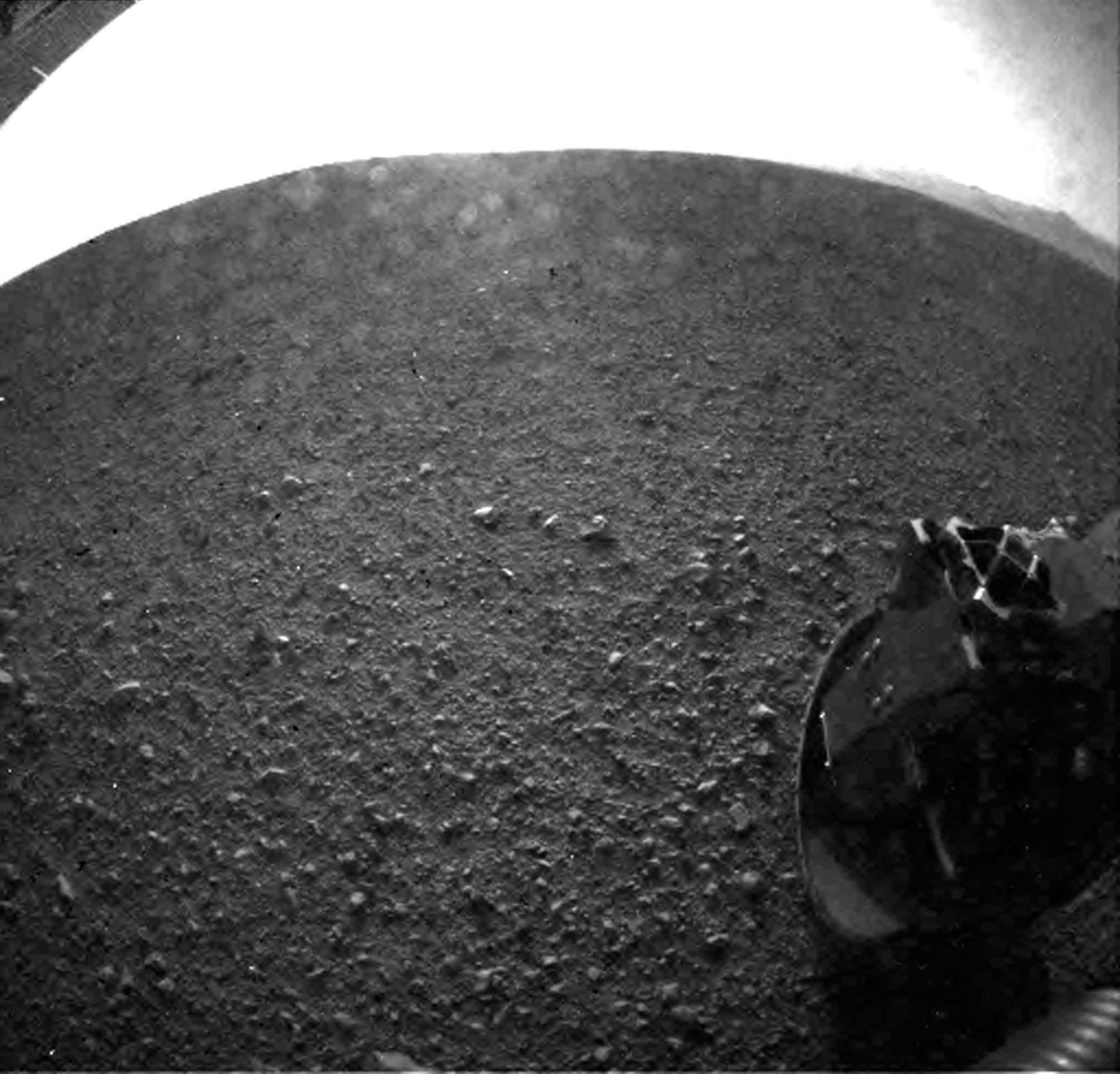 El Curiosity se posa sobre Marte