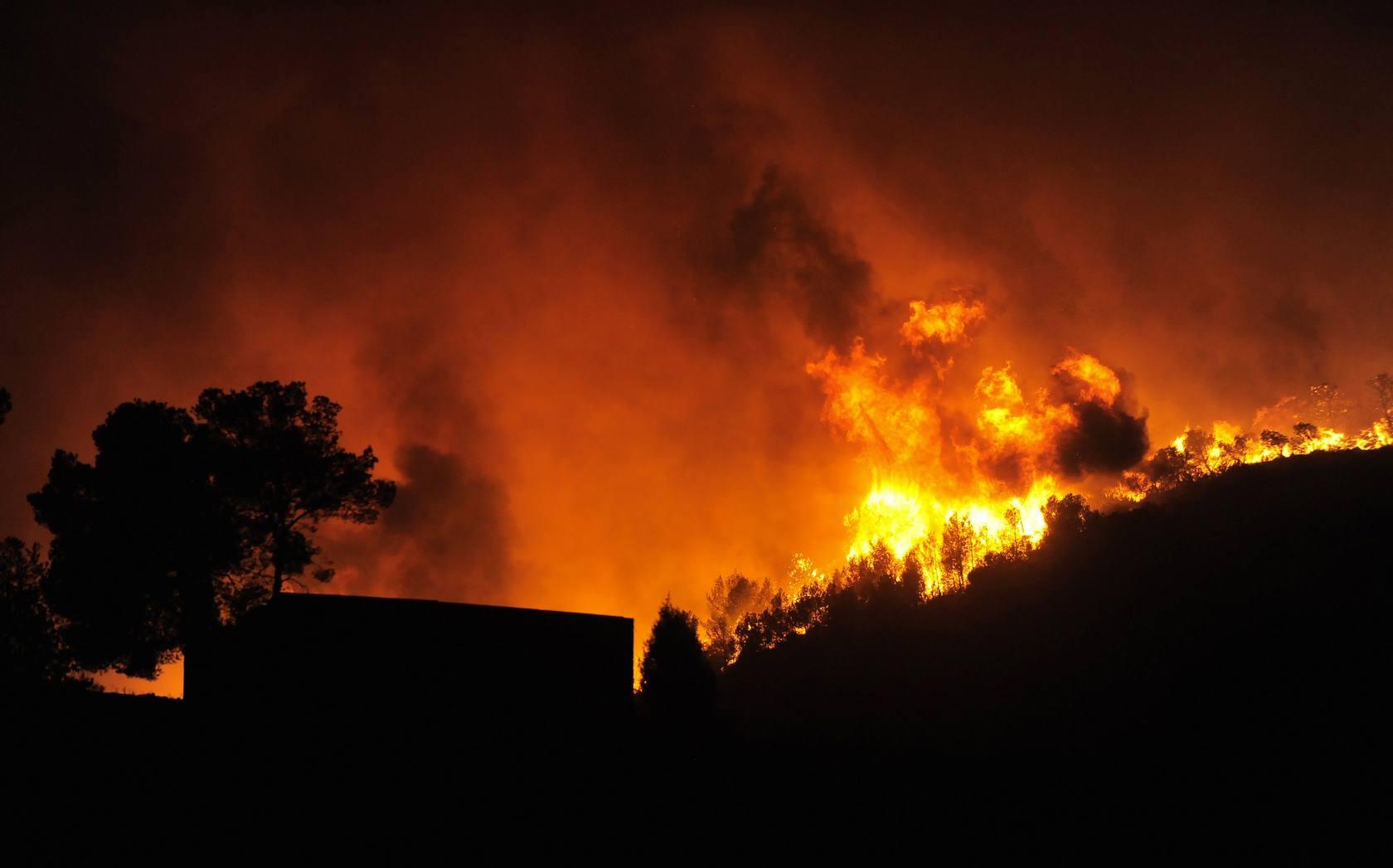 Incendio en Chulilla